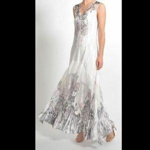 Komarov Lace Up Back Ruffle Dress XL
